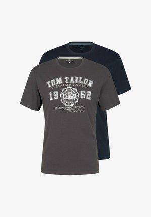 2 PACK - Print T-shirt - tarmac grey