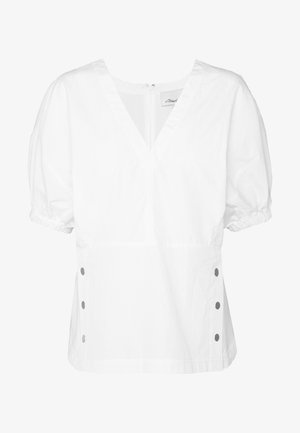 POPLIN TOP  SIDE STUDS - Blouse - optic white