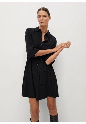 LEANDRA - Skjortekjole - černá