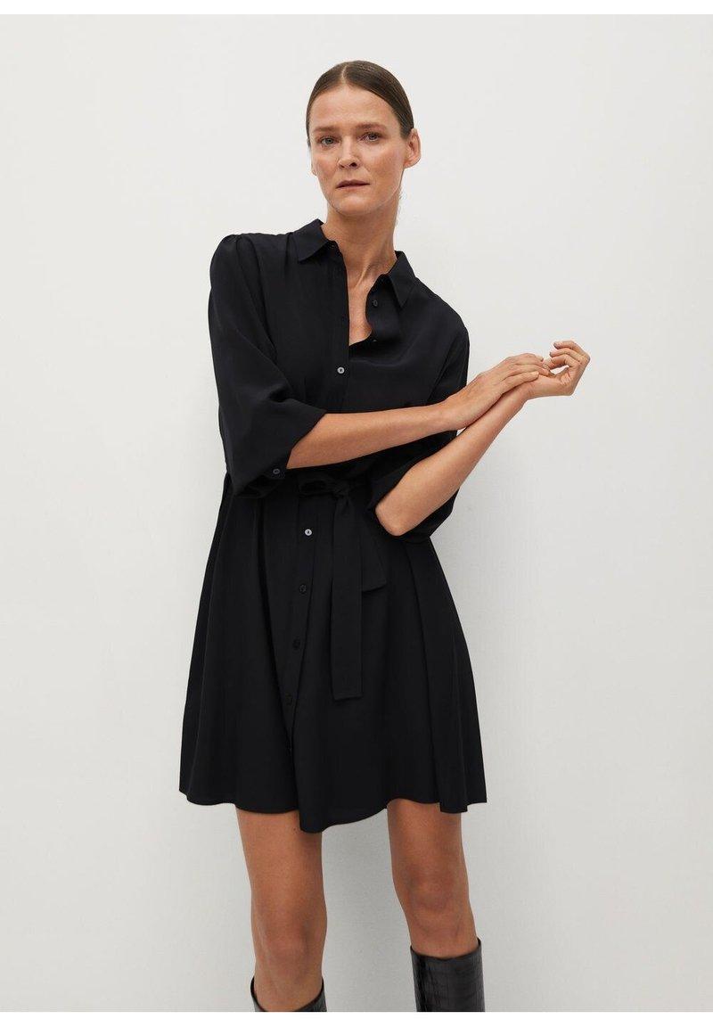 Mango - LEANDRA - Shirt dress - černá