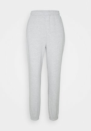 BASIC - Loose Fit Joggers - Joggebukse - mottled light grey
