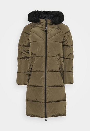 ONLMONICA LONG PUFFER COAT  - Winter coat - beech