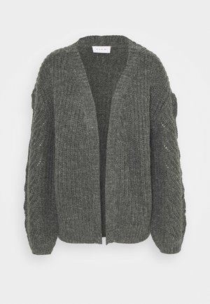 VISEE VNECK CARDIGAN - Vest - medium grey melange