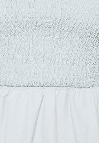 Missguided - SHIRRED MILKMAID PUFF SLEEVE DRESS - Maxi dress - baby blue - 2