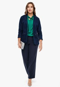 Triangle - REGULAR FIT: STRAIGHT LEG-HOSE - Trousers - navy - 3