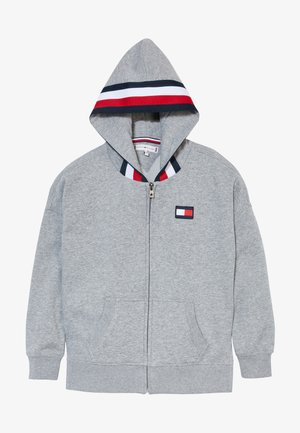 GLOBAL STRIPE DETAIL - Sudadera con cremallera - grey