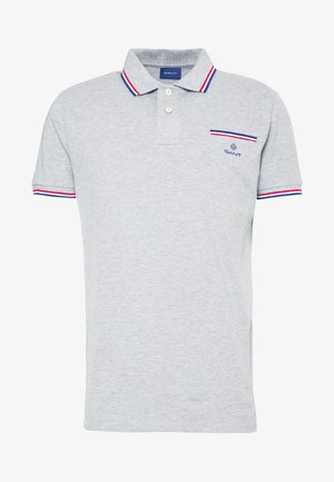 TIPPING RUGGER - Polo shirt - grey melange