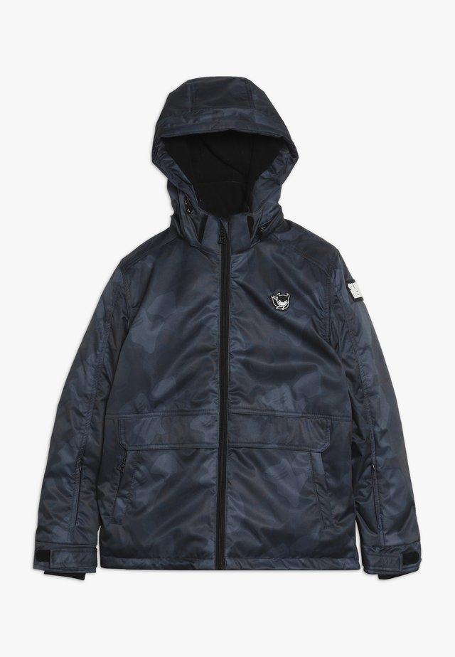 SKI TECHNICAL JACKET ALL OVER - Snowboard jacket - grey/blue