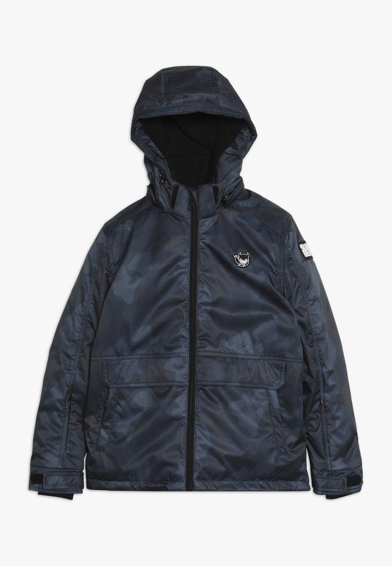 SuperRebel - SKI TECHNICAL JACKET ALL OVER - Snowboardová bunda - grey/blue