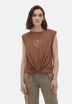 Camiseta estampada - marrone