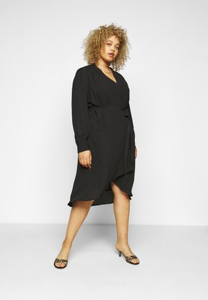 SLFLAVA WRAP DRESS  - Day dress - black