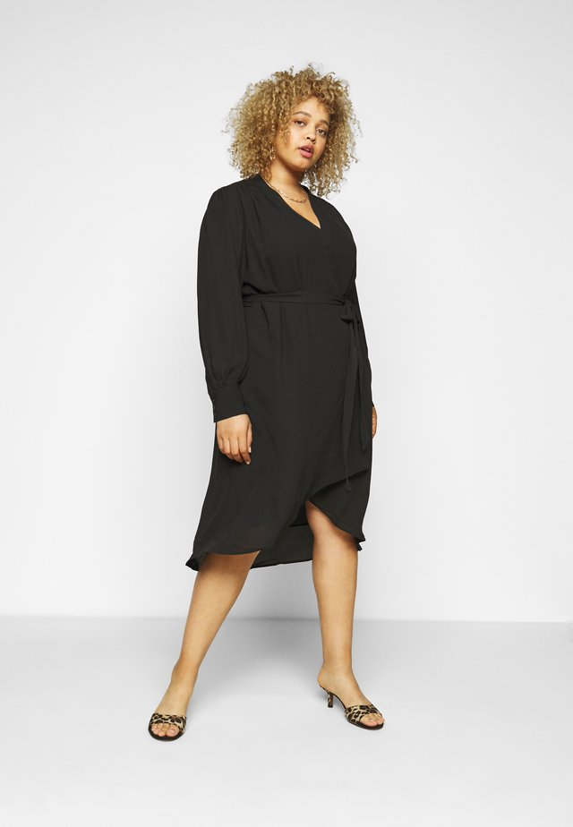 SLFLAVA WRAP DRESS  - Korte jurk - black