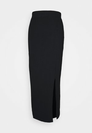BASIC - Bodycon maxi skirt - Kynähame - black