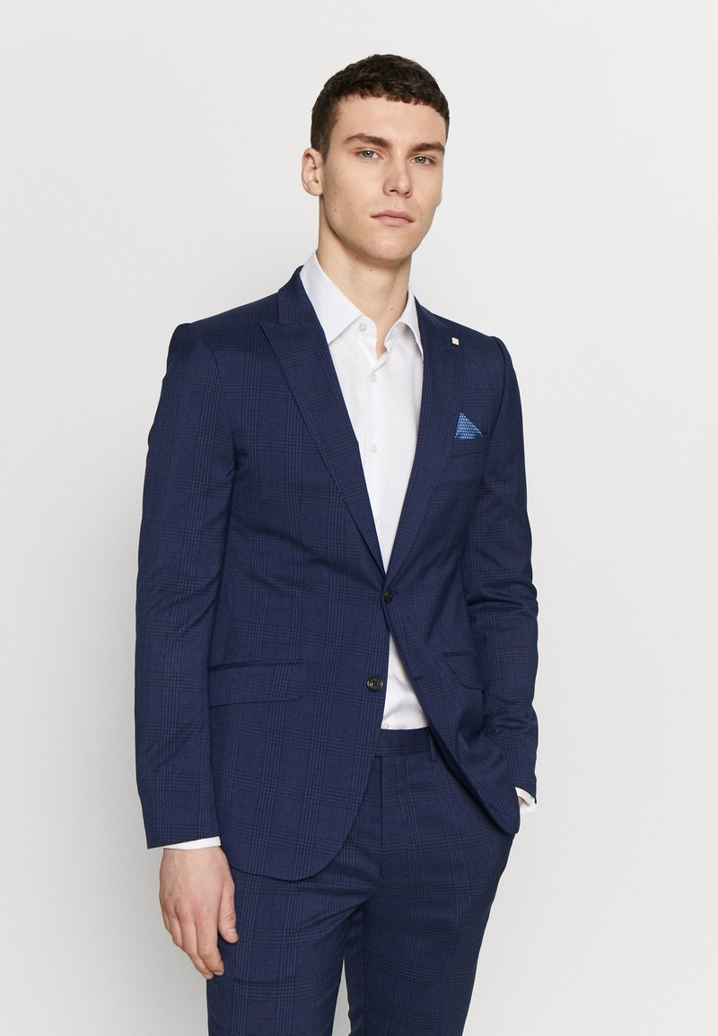Burton Menswear London - HIGHLIGHT CHECK - Suit jacket - navy