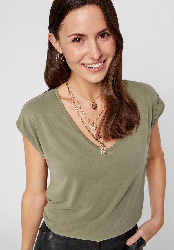 Pieces PCKAMALA TEE - T-shirt basic - deep lichen green Kolor jednolity Odzież Damska WQYE QB 9