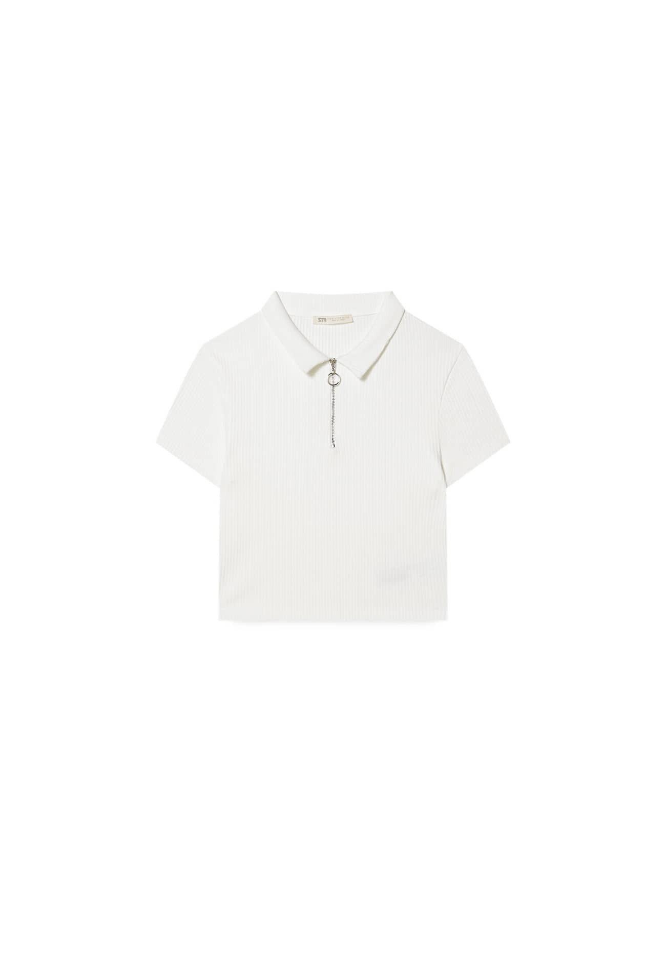Damen mit Kragen und Reißverschluss - Poloshirt