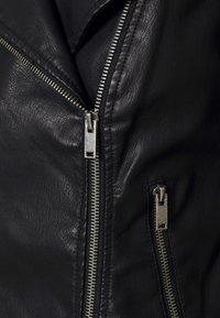Noisy May Petite - NMREBEL - Faux leather jacket - black - 5