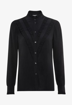 MIT STEHKRAGEN - Button-down blouse - black