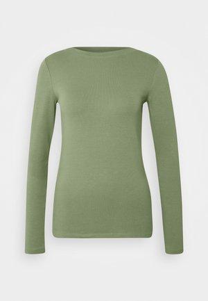 BOAT NECK BASIC LONGSLEEVE - Top sdlouhým rukávem - vintage green
