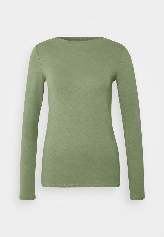 BOAT NECK BASIC LONGSLEEVE - Long sleeved top - vintage green