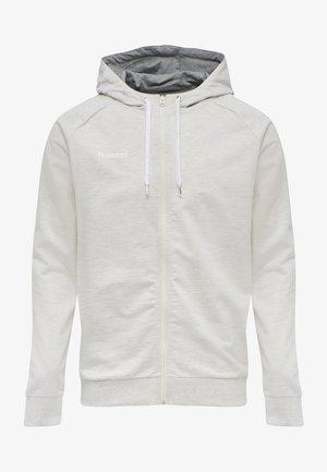 ZIP HOODIE - Zip-up hoodie - egret melange