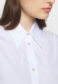 MM6 Maison Margiela - Button-down blouse - white - 7