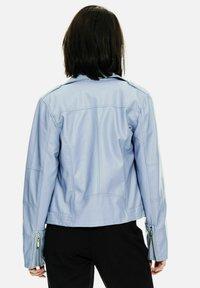 Garcia - Faux leather jacket - powder blue - 2