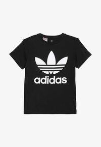 adidas Originals - TREFOIL TEE - T-shirt print - black/white - 2