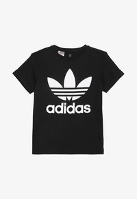 adidas Originals - TREFOIL - T-shirt z nadrukiem - black/white - 2