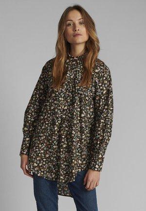 Button-down blouse - dark sapphire