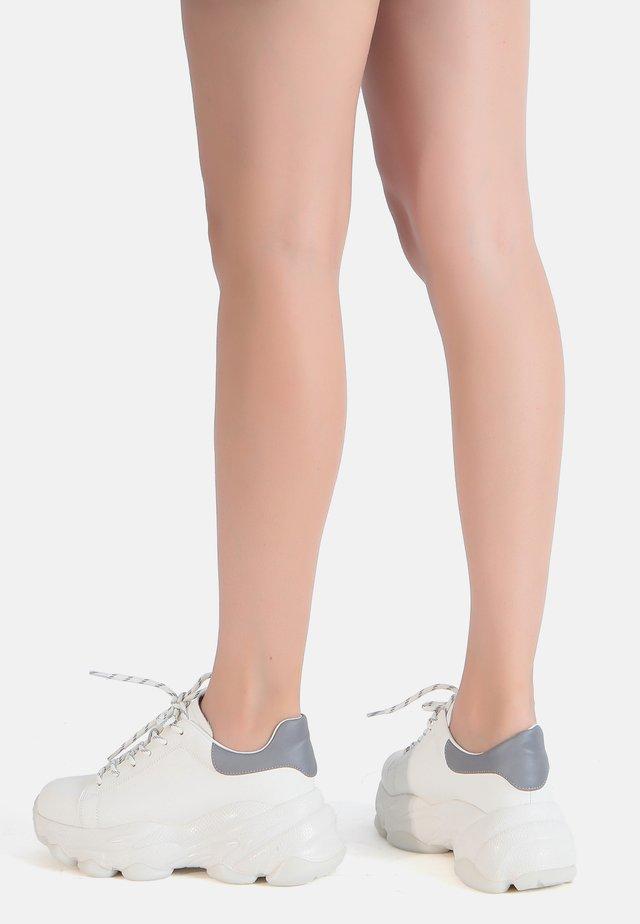 Sneakers laag - weiß-grey