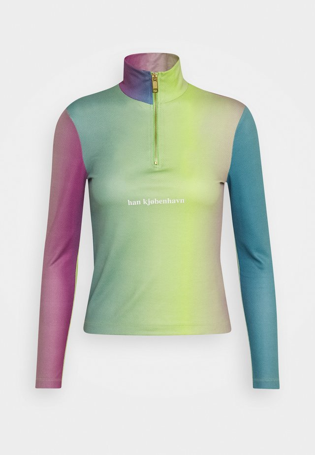 HALF ZIP LONG SLEEVE - Maglietta a manica lunga - multi-coloured