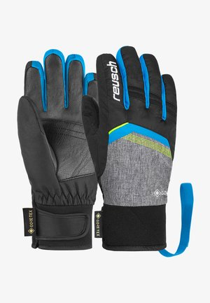 Gloves - blck/blck mel/brill blue