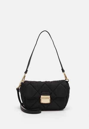 BAG QUILTED - Across body bag - black