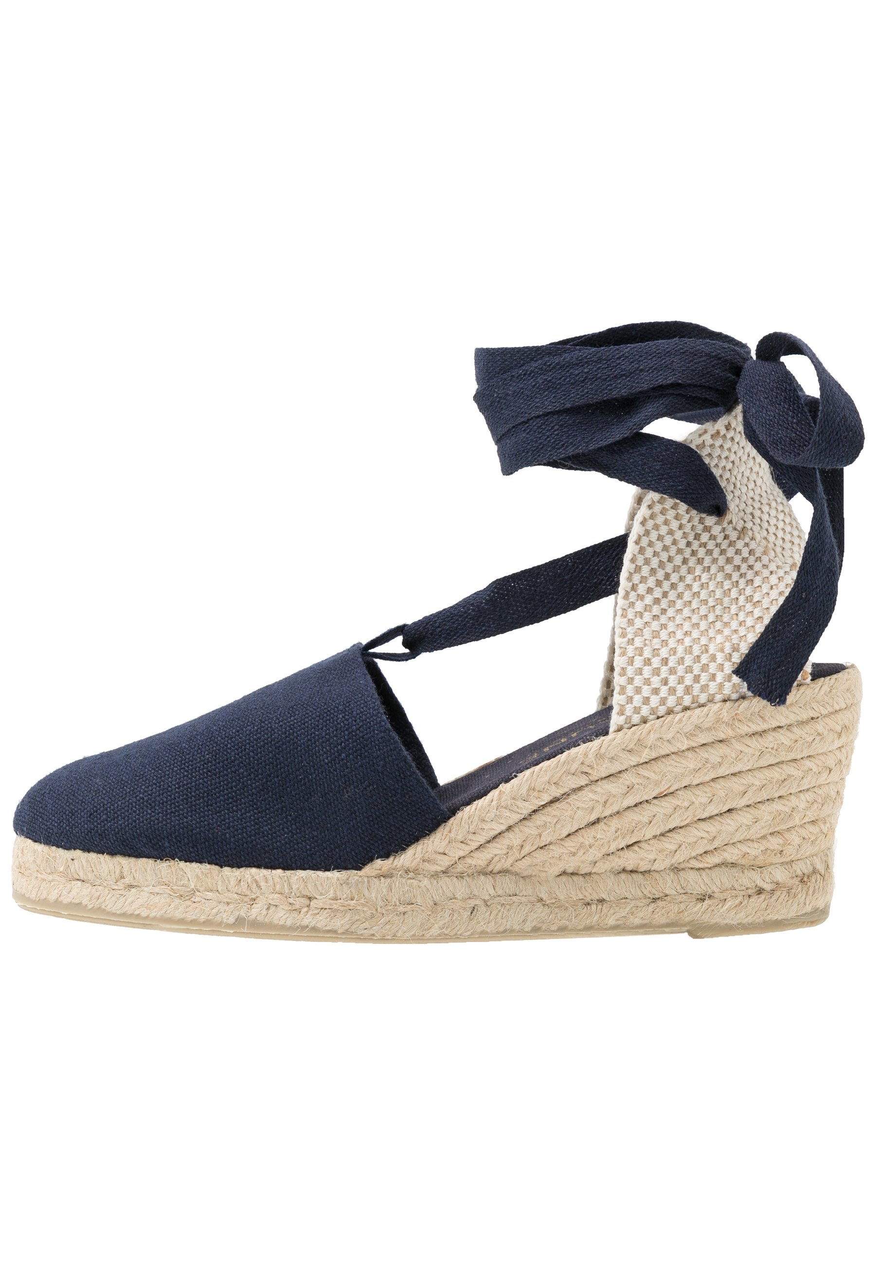 LACE UP WEDGES Espadrillos navy