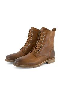 Travelin - Lace-up ankle boots - cognac - 3