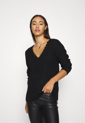 VIOA VNECK - Jumper - black