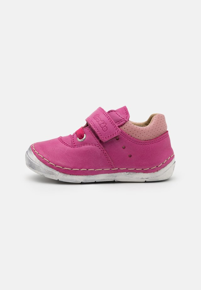 PAIX COMBO - Baby shoes - fuchsia