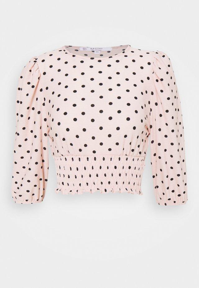 SHIRRED HEM - Blouse - pink