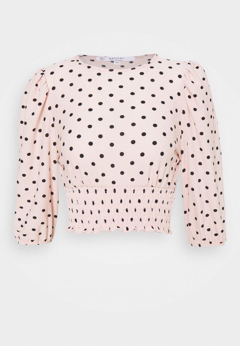 Miss Selfridge Petite - SHIRRED HEM - Blůza - pink