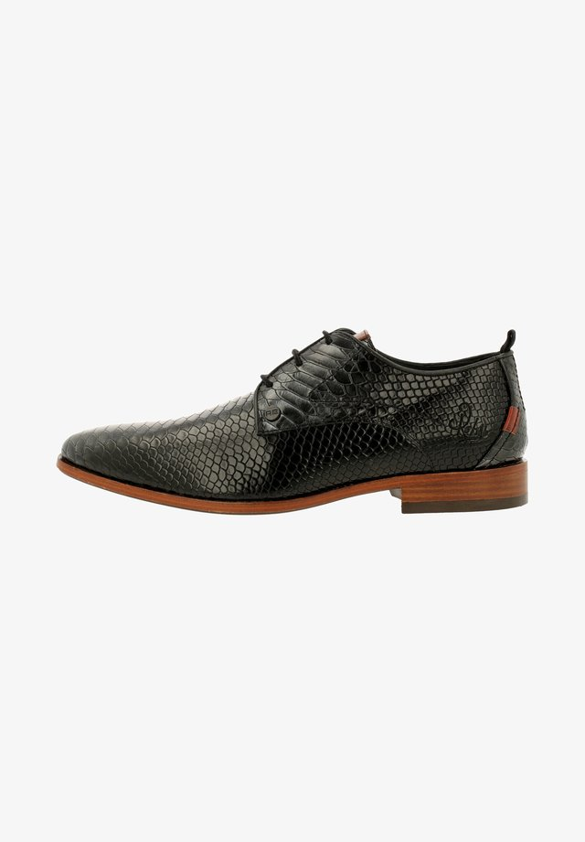 GREG SNAKE - Derbies & Richelieus - dark gray-black