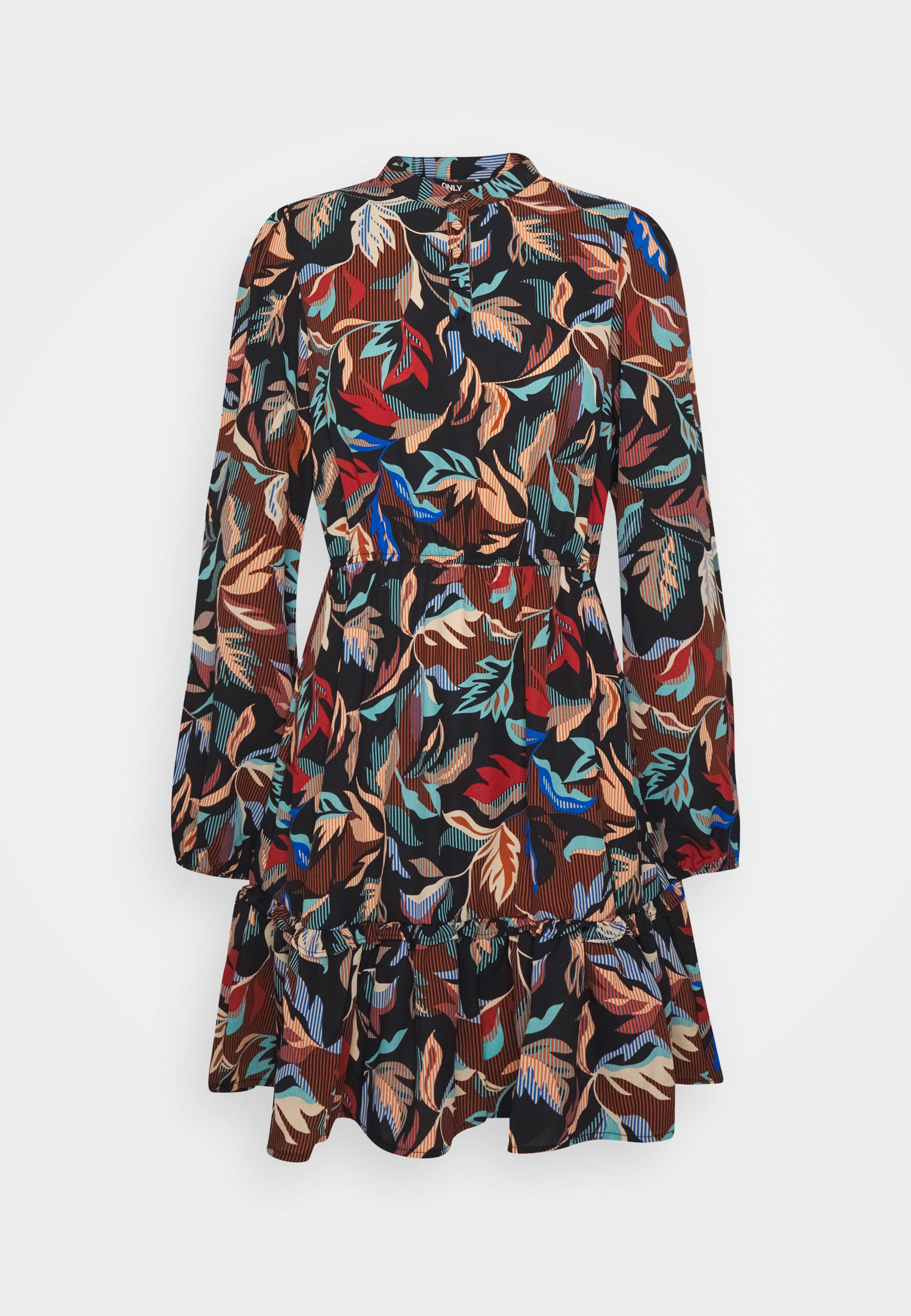 Only Onlginny Button Short Dress Robe D Ete Black Noir Zalando Fr