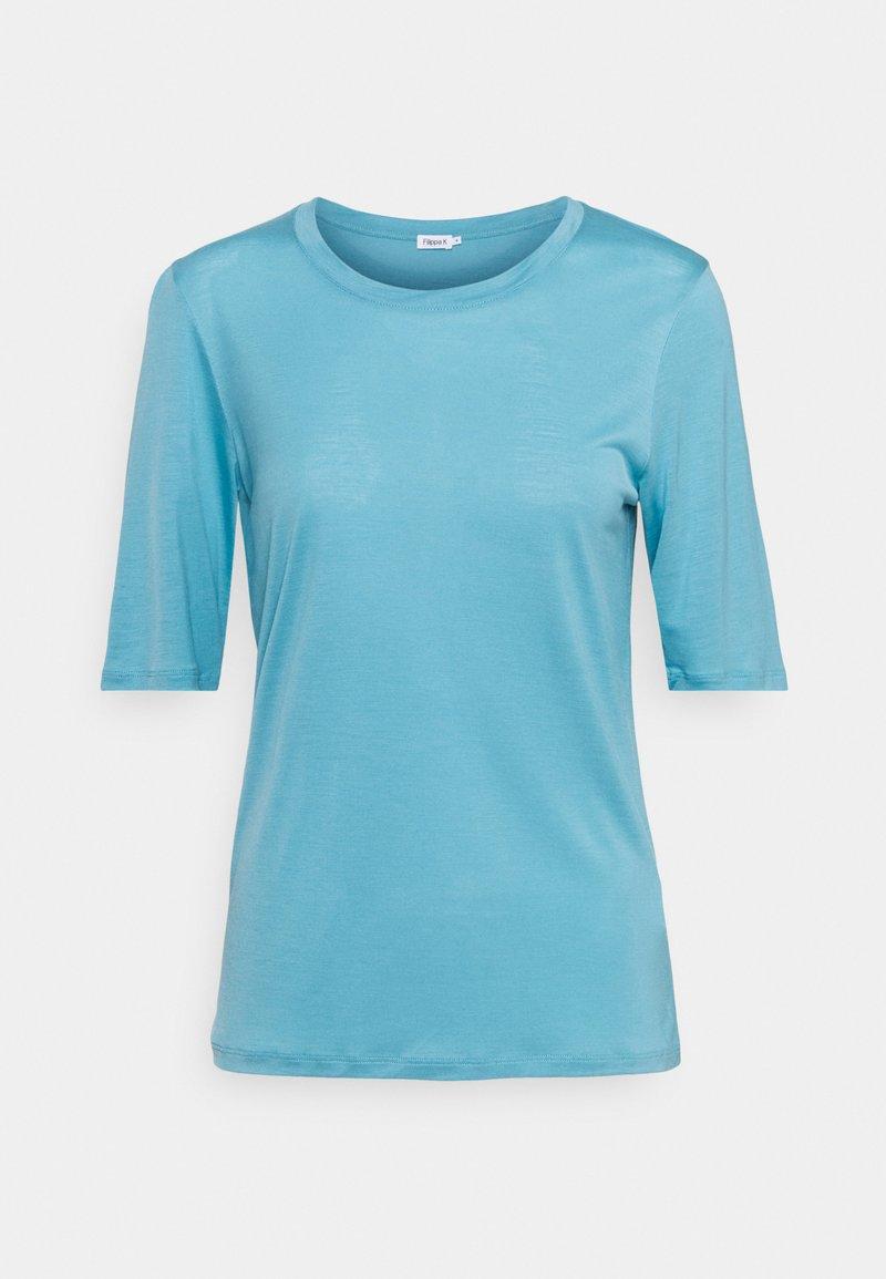 Filippa K - ELENA TEE - Jednoduché triko - turquoise