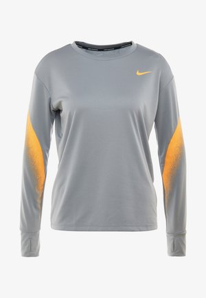 MIDLAYER RUNWAY - Koszulka sportowa - particle grey/laser orange