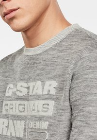 G-Star - PREMIUM CORE LOGO ROUND LONG SLEEVE - Trui - cool grey - 3