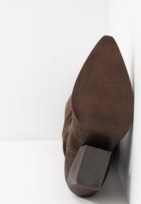 Steven New York - NEVAAR - Kovbojské/motorkářské boty - dark taupe - 6