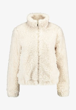 SHORT TEDDY COAT - Winter jacket - cream