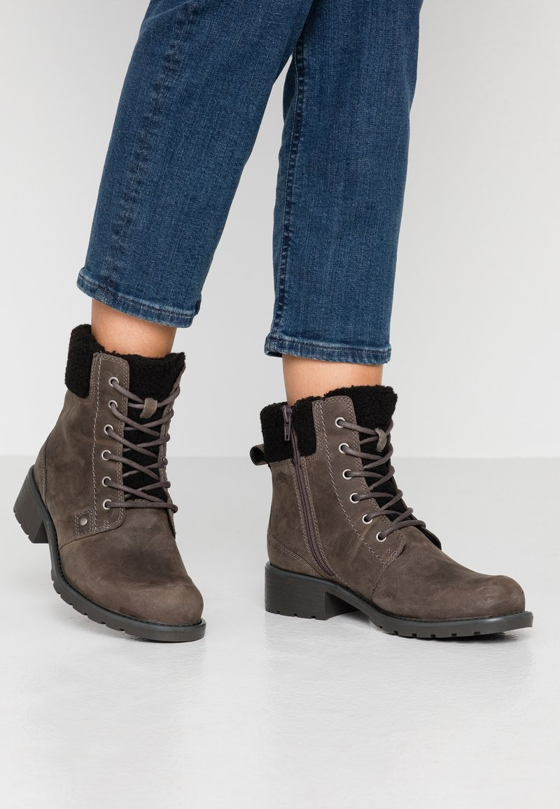 Clarks - ORINOCO DUSK - Lace-up ankle boots - dark grey