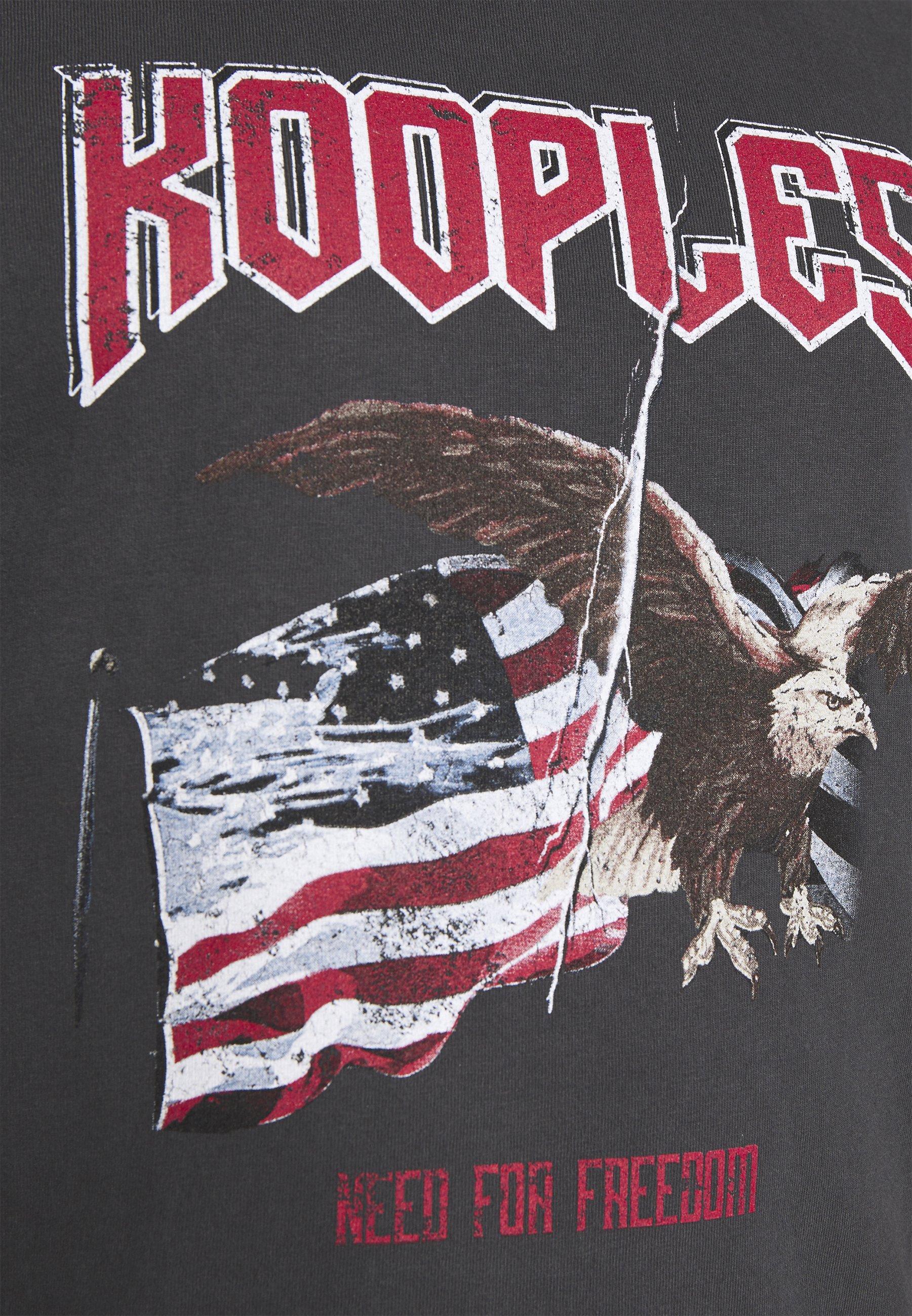 The Kooples EAGLE - T-shirt imprimé - black