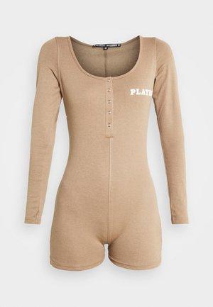 PLAYBOY BUTTON FRONT  - Jumpsuit - brown